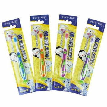 Pure-Aid Happy Baby Soft Toothbrush (4 pack)