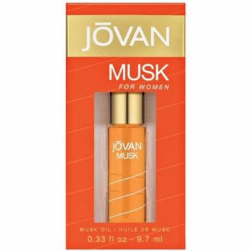 Jovan Musk Oil For Women 0.33 oz (Pack of 6)