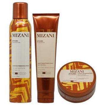 Mizani Lived In Finishing Spray + Creation Cream + Sculpting Paste