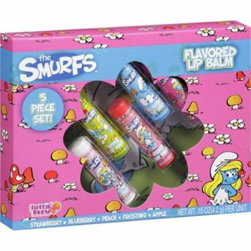Smurfs Flavored Lip Balm Strawberry Blueberry Peach Apple Frosting 5 Pack