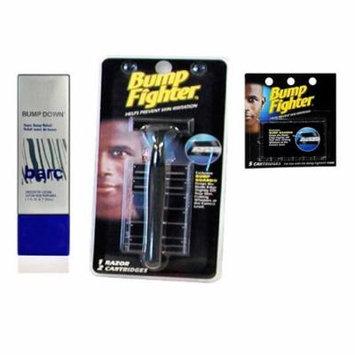 Barc Bump Down Razor Bump Relief, Alcohol-Free, Unscented Lotion, 1.7 Oz + Bump Fighter Razor for Men + Bump Fighter Cartridge Refill, 5 Ct + Schick Slim Twin ST for Dry Skin