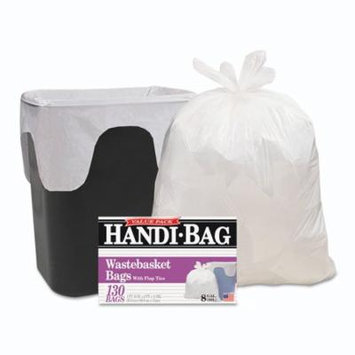 Handi-Bag - Handi-Bag Super Value Pack, 8gal, .55mil, 21 1/2 x 24, White - 130/Box - Trash Bags, The ideal bag for home office use. New flap-tie closure.