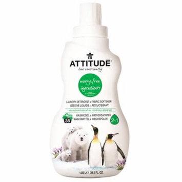 ATTITUDE, Laundry Detergent & Fabric Softener, Mountain Essential, 35.5 fl oz (pack of 3)