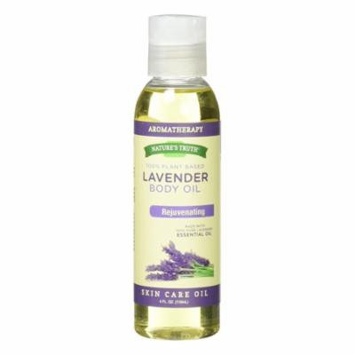 Natures Truth Rejuvenating Lavender Body Massage Oil Liquid For Skin Care, 4 oz, 2 Pack
