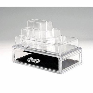 Beauty Acrylic Clear Cosmetic Holder Large 1 Drawer Jewerly Chest or Make up Case Lipstick Liner Brush Holder Organizer 1061