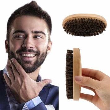 Practical Oval Shape Men Boar Hair Bristle Facial Beard Mustache Brush