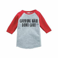 Custom Party Shop Unisex Camping Hair Outdoors Raglan Tee - 4T
