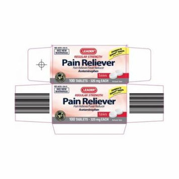 Leader 325mg Acetaminophen Tablets, 24ct