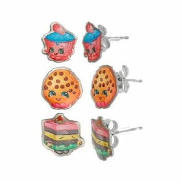 Shopkins Stainless Steel Trio Earrings Set: Cupcake Chic, Kooky Cookie, Le 'Quorice + Schick Slim Twin ST for Sensitive Skin