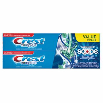 Crest Complete Multi-Benefit Whitening + Scope DualBlast Toothpaste Mint 5.8 oz.(pack of 12)