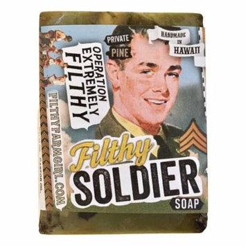 Filthy Soldier all natural glycerin BAR SOAP Sandalwood Pine Rosemary Cedar by Filthy Farmgirl