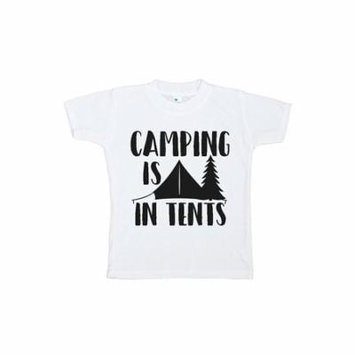 Custom Party Shop Kids Camping Is In Tents Outdoors T-shirt - 3T