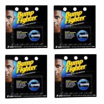 Bump Fighter Refill Cartridge Blades for Men - 5 ea. (Pack of 4) + Schick Slim Twin ST for Dry Skin