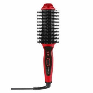 Vivitar Ceramic Hair Curling/Straightening Brush, Red