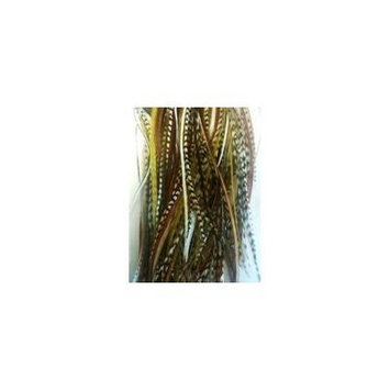 5 Feather Hair Extension 4-6 Natural Mix Feathers for Hair Extension 5 Feathers Bonded Together At the Tip
