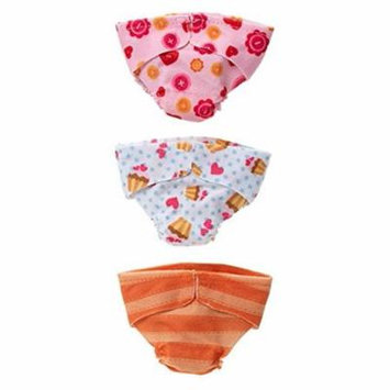 Babies Diaper Surprise Pack Style 1 Doll, Special character-inspired REUSABLE diapers By Lalaloopsy