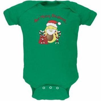 Avo Have A Merry Christmas Avocado Cute Funny Pun Soft Baby One Piece