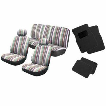 Baja Inca 12pc Saddle Blanket Seat Coverront Pair Bench For Volkswagen VW Passat