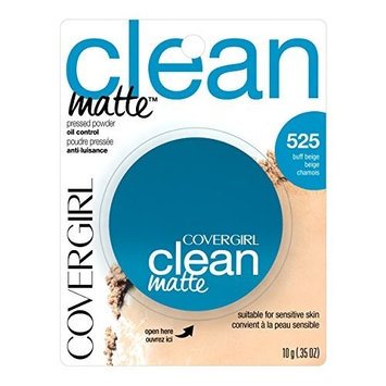 CoverGirl Clean Oil Control Pressed Powder, Buff Beige (W) 525, 10ml Pan (2-pack) by CoverGirl
