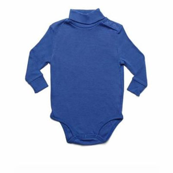 Leveret Solid Turtleneck Bodysuit 100% Cotton (24 Months, Royal Blue)