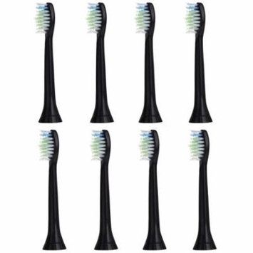 8 SonicPRO Standard Black Replacement Sonic Toothbrush Heads for Sonicare DiamondClean Hx6063/64