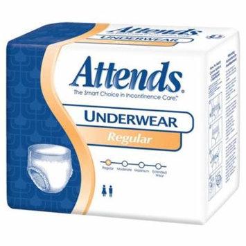 Attends unisex regular absorbency value tier protective underwear medium 34