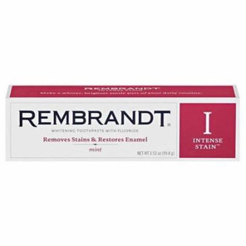 Rembrandt Intense Stain Whitening Toothpaste with Fluoride Mint, 3.52 oz, 6 Pack