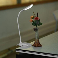 OUTAD Dimmable Clip-On USB Rechargeable Touch LED Reading Light Desk Table Lamp