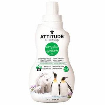 ATTITUDE, Laundry Detergent & Fabric Softener, Mountain Essential, 35.5 fl oz (pack of 2)