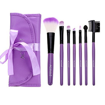 ACEVIVI Stylish Cute 7 pcs Pink Cosmetic Brushes High Quality Essential Face Makeup Brush Set