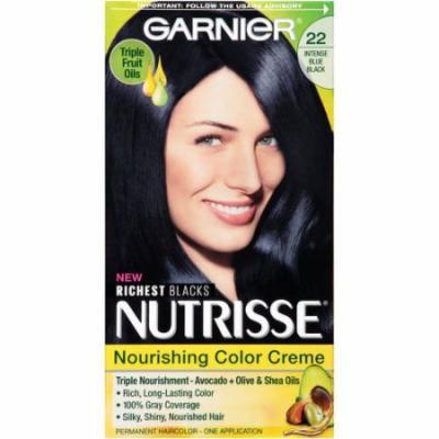 Garnier Nutrisse Permanent Haircolor, Intense Blue Black 22 1.0 ea(pack of 2)
