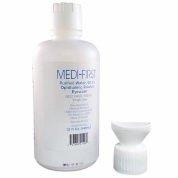 MEDI-FIRST First Aid Eye Wash - Water Solution 32-Oz. Bottle 2ct MS-55794