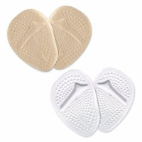 Yosoo Metatarsal Gel Pads Ball of Foot Cushions, 2 Pairs Self-Sticking Forefoot Shoe Insoles for Women High Heels, Relieve Foot Pain (Skin+Clear)