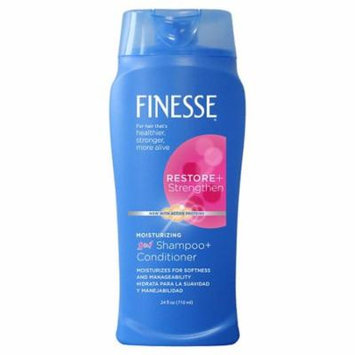 Finesse 2 in 1 Moisturizing Shampoo and Conditioner 24.0 fl oz((pack of 4)