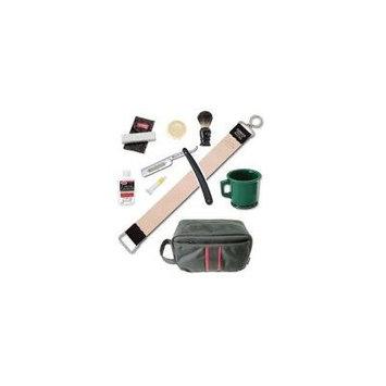 Dovo Straight Razor Paste Brush Soap Mug Leather Strop Stone 9 Pcs Shaving Kit