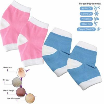 Gel moisturizing socks for dry,cracked heel skin smoother repair sleeve with Essential Oil Infused Gel toeless open toe design