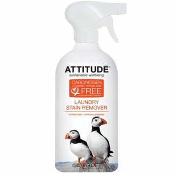 ATTITUDE, Laundry Stain Remover, Citrus Zest, 27.1 fl oz (pack of 6)