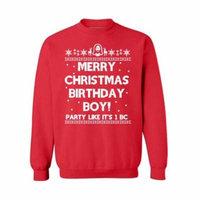Awkward Styles Merry Christmas Birthday Boy Christmas Sweatshirt Jesus Holiday Sweatshirt Xmas Gifts Christmas Sweatshirt for Men for Women Christian Gift Christmas Sweater Xmas Party Family Holiday