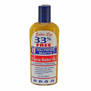 Hollywood Beauty Cocoa Butter Hair Oil For Healthy Hair, 8 Oz, 3 Pack