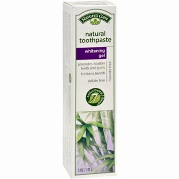 Nature's Gate Natural Toothpaste Gel Whitening - 5 Oz - Pack of 6
