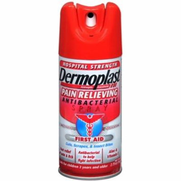 6 Pack - Dermoplast Antibacterial Pain Relieving Spray 2.75 oz