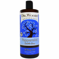 Dr. Woods, Peppermint Castile Soap, 32 fl oz (pack of 6)