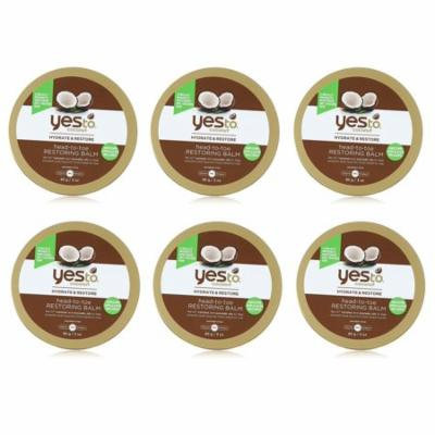 Yes To Coconut Hydrate & Restore Head-to-toe Restoring Balm, 3 Oz (Pack of 6) + Schick Slim Twin ST for Sensitive Skin