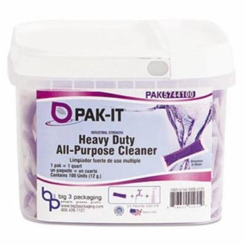 PAK-IT 574420003400 Heavy-Duty All-Purpose Cleaner, Pleasant Scent, 100/Tub
