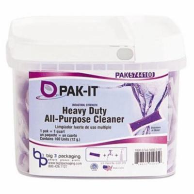 PAK-IT 574420003400 Heavy-Duty All-Purpose Cleaner, Pleasant Scent, 100/Tub