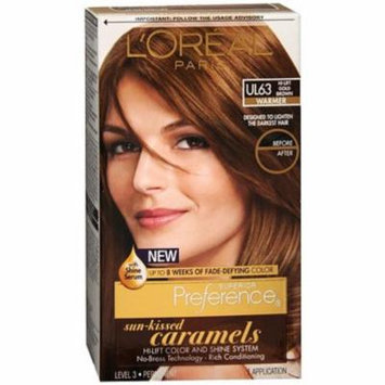 L'Oreal Paris Superior Preference Permanent Hair Color, Hi-Lift Gold Brown Ul63 1.0 ea(pack of 3)