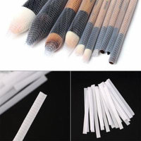 Hot selling 20PCS Makeup Cosmetic Beauty Brush Pen Guards Sheath Mesh Netting Protector Cover Quality