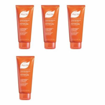 Phytoplage Shampooing Gel, Moisturizing Hair & Body Wash, 6.5 Oz (Pack of 4) + Schick Slim Twin ST for Dry Skin