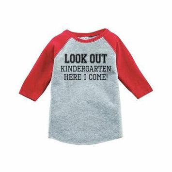 Custom Party Shop Kids Look Out Kindergarten Red Baseball Tee - 3T