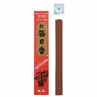 Morning Star Japanese Incense Sticks Myrrh 50 Sticks & holder', Box of 50 sticks, each of which is about 5 inches long and burns for approximately.., By Nippon Kodo